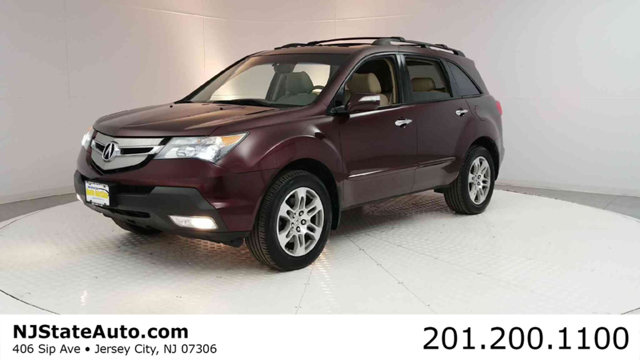 2008 ACURA MDX 4WD 4DR CARFAX One-Owner Dark Cherry Pearl 2008 Acura MDX 37L SH-AWD AWD 5-Speed