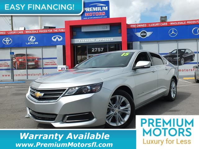 2015 CHEVROLET IMPALA 4DR SEDAN LT W2LT LOADED CERTIFIED WE SAVE YOU THOUSANDS Fully serviced