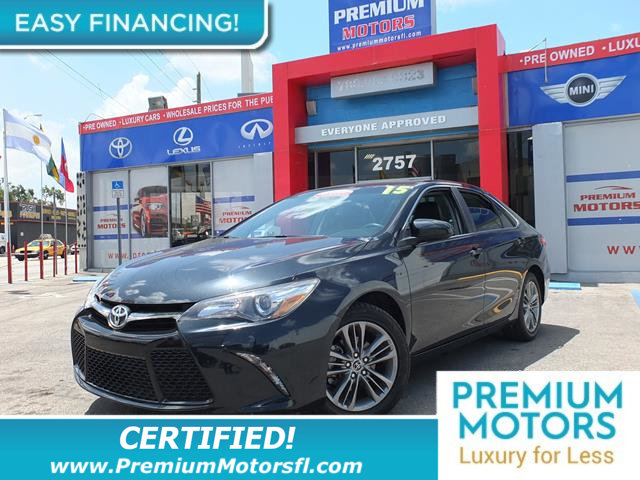 2015 TOYOTA CAMRY 4DR SEDAN I4 AUTOMATIC SE TOYOTA FOR LESS FACTORY WARRANTY At Premium Mo