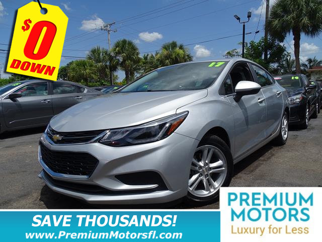 2017 CHEVROLET CRUZE 4DR SEDAN AUTOMATIC LT CHEVY FOR LESS FACTORY WARRANTY At Premium Moto
