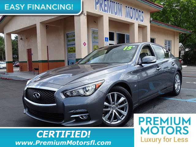 2015 INFINITI Q50 4DR SEDAN RWD LOADED CERTIFIEDFACTORY WARRANTY Fully