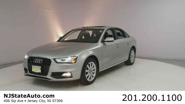 2015 AUDI A4 4DR SEDAN AUTOMATIC QUATTRO 20T CARFAX One-Owner Gray Metallic 2015 Audi A4 20T Pr