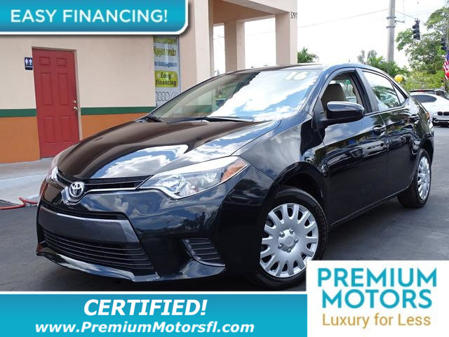 2016 TOYOTA COROLLA 4DR SEDAN CVT LE LOADED CERTIFIED MINT CONDITION and 1000s Below Retail Ge
