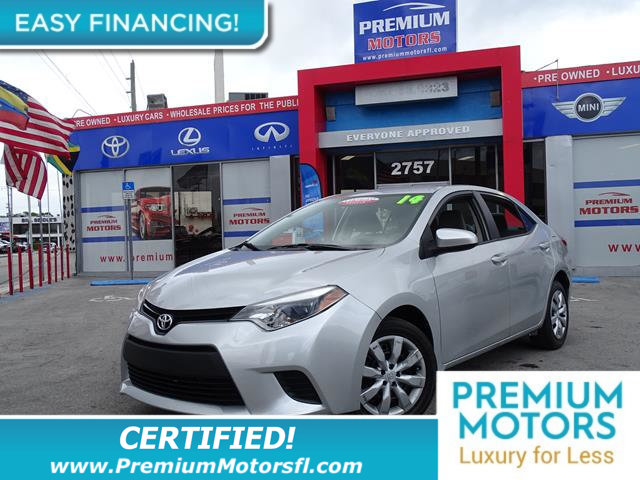 2014 TOYOTA COROLLA 4DR SEDAN CVT LE LOADED CERTIFIED WE SAVE YOU THOUSANDS Fully serviced jus