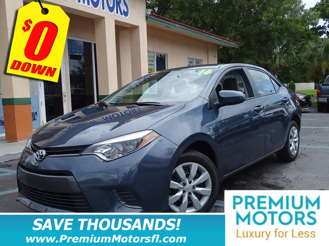 2016 TOYOTA COROLLA 4DR SEDAN CVT LE TOYOTA FOR LESS LOADED  At Premium Motors we have re