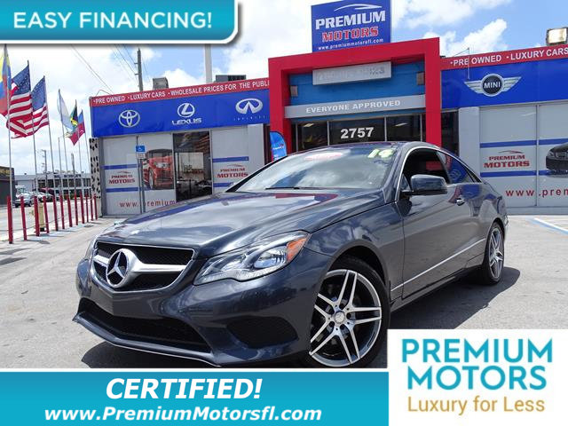 2014 MERCEDES E-CLASS 2DR COUPE E 350 RWD LOADED CERTIFIEDFACTORY WARRANTY Fully serviced