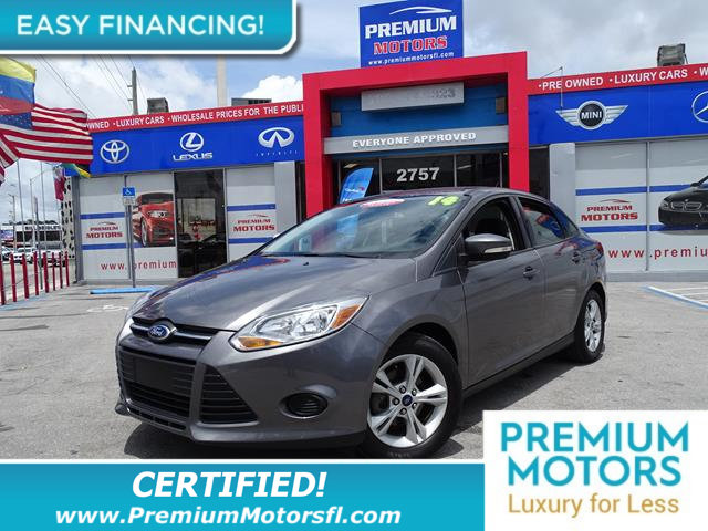 2014 FORD FOCUS 4DR SEDAN SE LOADED CERTIFIEDFACTORY WARRANTY Fully serviced just sign an
