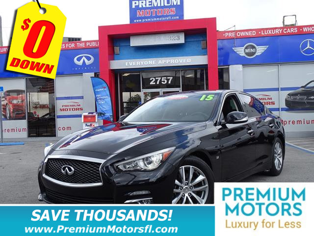 2015 INFINITI Q50 4DR SEDAN RWD INFINITI FOR LESS FACTORY WARRANTY At Premium Motors we ha