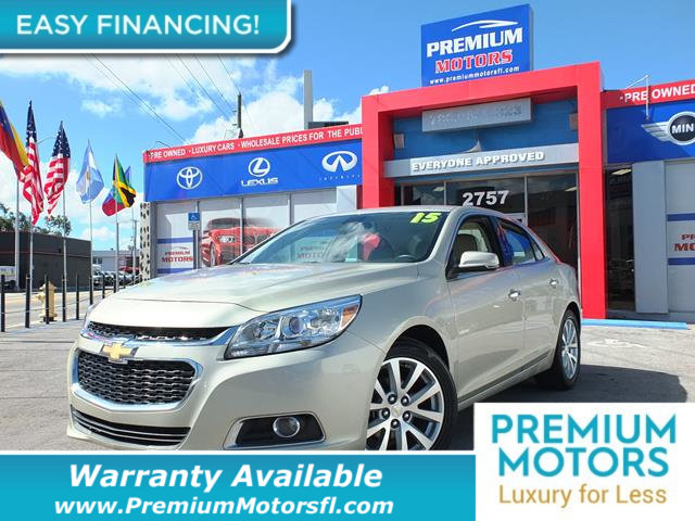 2015 CHEVROLET MALIBU 4DR SEDAN LTZ W1LZ KEY FEATURES AND OPTIONS Comes equipped with Air Condit