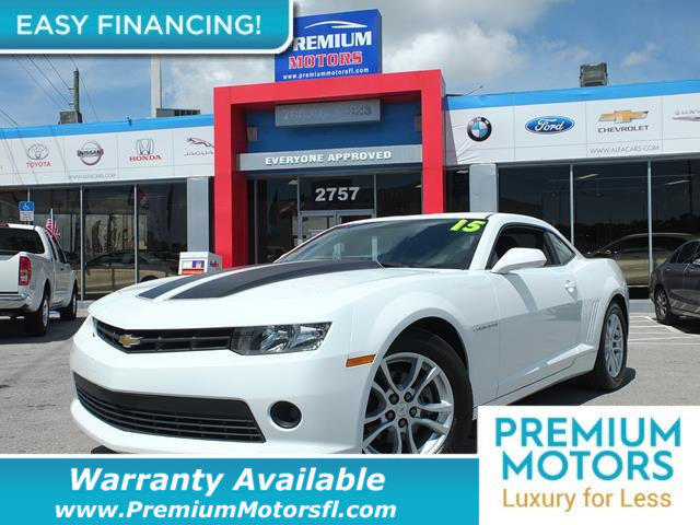 2015 CHEVROLET CAMARO 2DR COUPE LT W1LT LOADED CERTIFIED WE SAVE YOU THOUSANDS Fully serviced