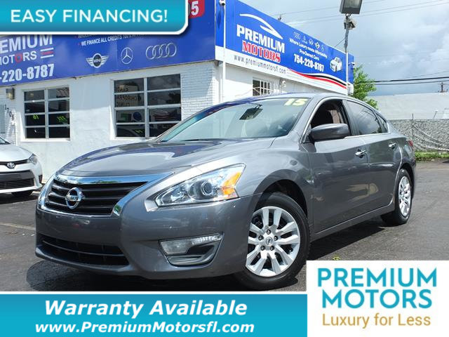 2015 NISSAN ALTIMA 4DR SEDAN I4 25 S BUY WITH CONFIDENCE CARFAX Buyback Guarantee qualified KEY