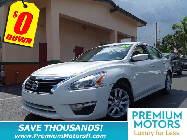 2015 NISSAN ALTIMA 4DR SEDAN I4 25 S NISSAN FOR LESS FACTORY WARRANTY At Premium Motors w