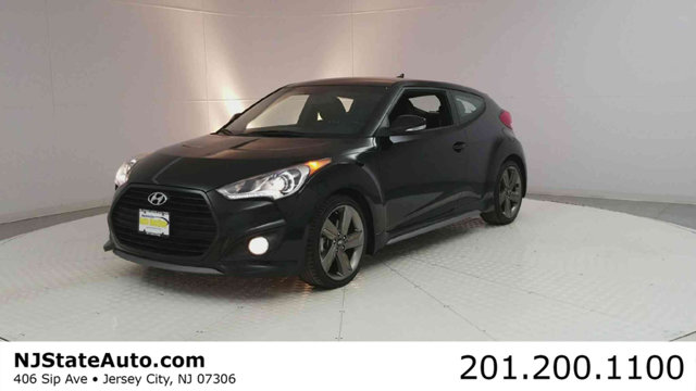 2014 HYUNDAI VELOSTER 3DR COUPE AUTOMATIC TURBO WBLAC CARFAX One-Owner Ultra Black 2014 Hyundai V