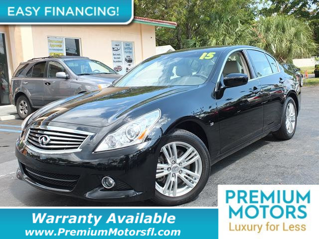 2015 INFINITI Q40 4DR SEDAN RWD LOADED CERTIFIED WE SAVE YOU THOUSANDS Fully serviced just sig