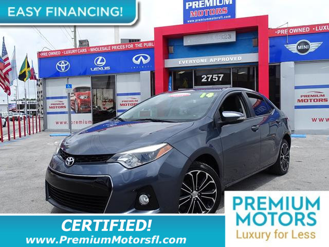 2014 TOYOTA COROLLA 4DR SEDAN CVT S LOADED CERTIFIED WE SAVE YOU THOUSANDS Fully serviced just