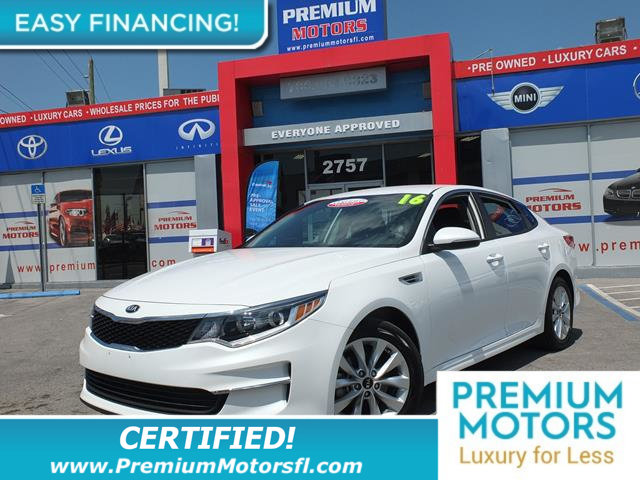 2016 KIA OPTIMA 4DR SEDAN LX LOADED CERTIFIED FACTORY WARRANTY Fully serviced just sign and dr