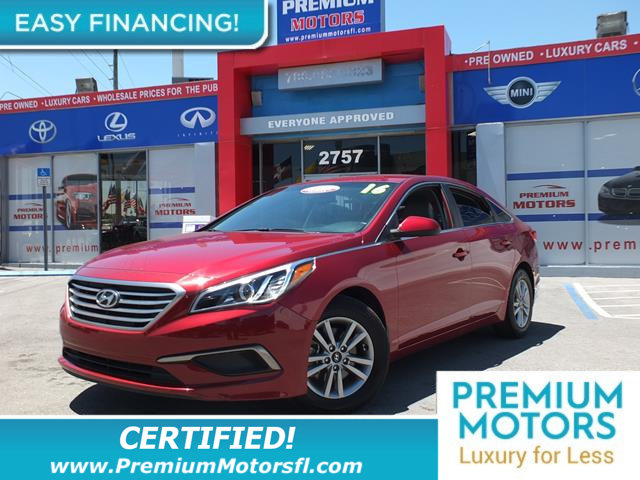 2016 HYUNDAI SONATA  LOADED CERTIFIED FACTORY WARRANTY Fully serviced just sign and drive Don