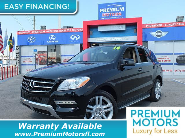 2014 MERCEDES M-CLASS  LOADED CERTIFIED FACTORY WARRANTY Fully serviced just sign and drive D