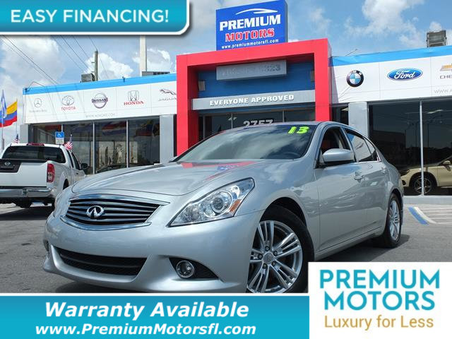 2013 INFINITI G37 SEDAN 4DR JOURNEY RWD LOADED CERTIFIED WE SAVE YOU THOUSANDS Fully serviced