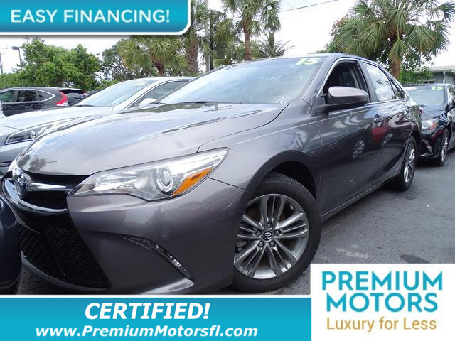 2015 TOYOTA CAMRY 4DR SEDAN I4 AUTOMATIC SE LOADED CERTIFIEDFACTORY WARRANTY Fully service