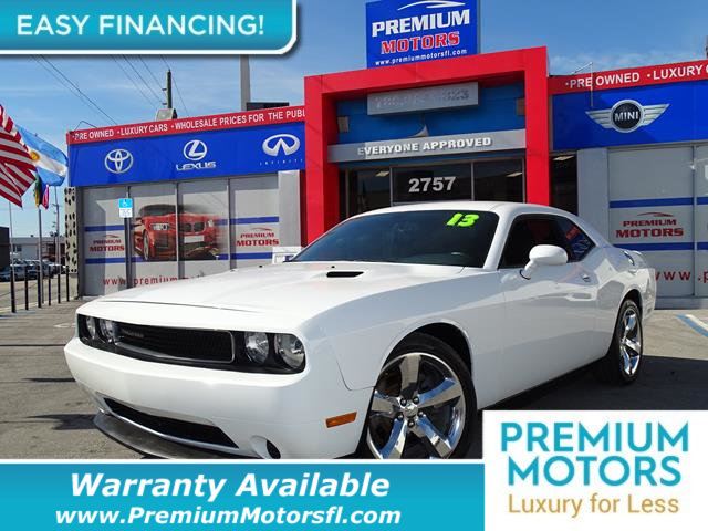 2013 DODGE CHALLENGER  LOADED CERTIFIED WE SAVE YOU THOUSANDS Fully serviced just sign and dri