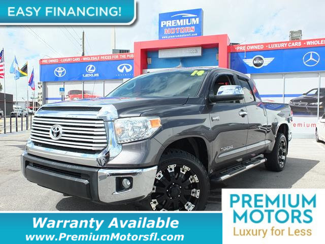 2014 TOYOTA TUNDRA DOUBLE CAB 57L V8 6-SPD AT LTD  LOADED CERTIFIED WE SAVE YOU THOUSANDS Don