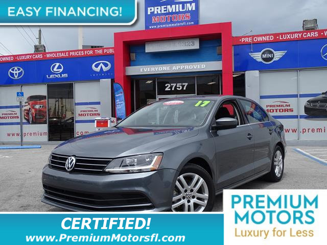2017 VOLKSWAGEN JETTA 14T S AUTOMATIC BUY AND DRIVE WORRY FREE Own this CARFAX 1-Owner and Buyba