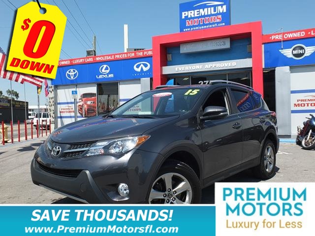 2015 TOYOTA RAV4 FWD 4DR XLE TOYOTA FOR LESS FACTORY WARRANTY At Premium Motors we have r