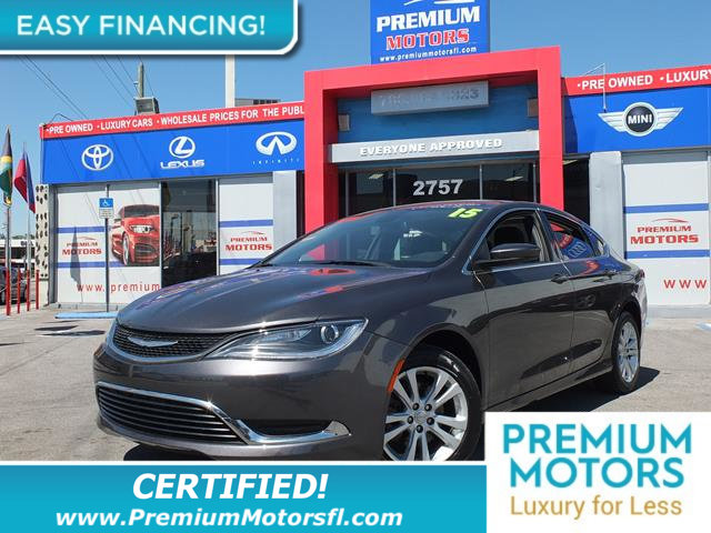 2015 CHRYSLER 200 4DR SEDAN LIMITED FWD LOADED CERTIFIED WE SAVE YOU THOUSANDS Fully serviced