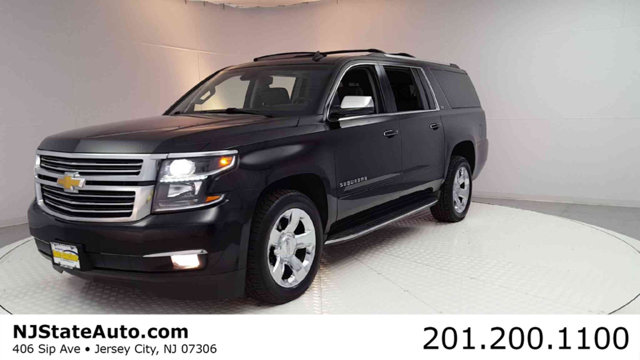 2015 CHEVROLET SUBURBAN 4WD 4DR LTZ CARFAX One-Owner Black 2015 Chevrolet Suburban LTZ 4WD 6-Speed
