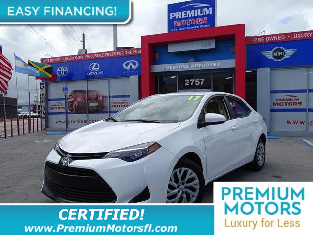 2017 TOYOTA COROLLA LE CVT LOADED CERTIFIED MINT CONDITION and 1000s Below Retail Get low mont