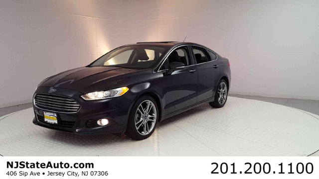 2015 FORD FUSION 4DR SEDAN TITANIUM AWD CARFAX One-Owner Clean CARFAX Tuxedo Black 2015 Ford Fusi