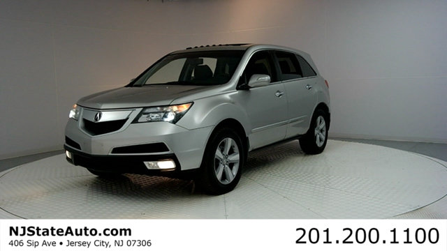 2010 ACURA MDX AWD 4DR CARFAX CERTIFIED WITH SERVICE RECORDS MDX 37L AWD and Ebony Leath