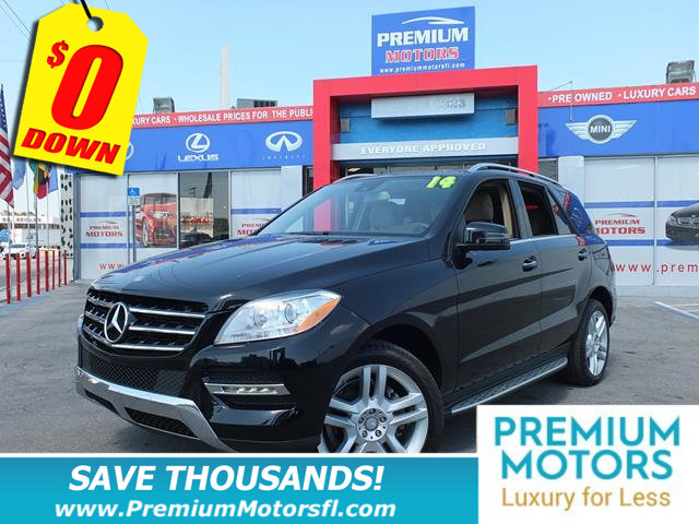 2014 MERCEDES M-CLASS RWD 4DR ML 350 HUGE SALE FACTORY WARRANTY At Premium
