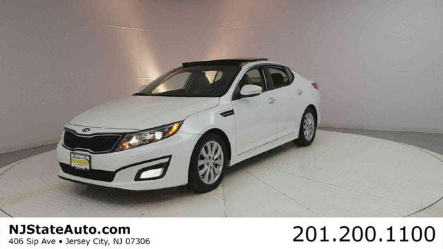 2015 KIA OPTIMA 4DR SEDAN EX CARFAX One-Owner Snow White Pearl 2015 Kia Optima EX FWD 6-Speed Auto