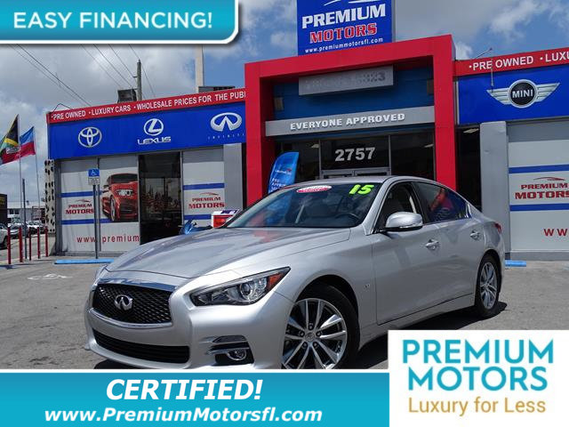 2015 INFINITI Q50 4DR SEDAN RWD LOADED CERTIFIED MINT CONDITION and 1000s Below Retail Get low