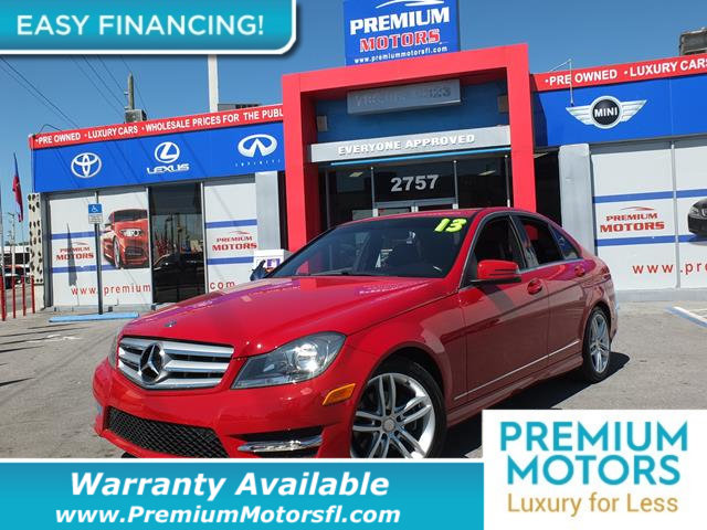 2013 MERCEDES C-CLASS  LOADED WITH VALUE Comes equipped with Air Conditioning Sunroof MP3 Blu
