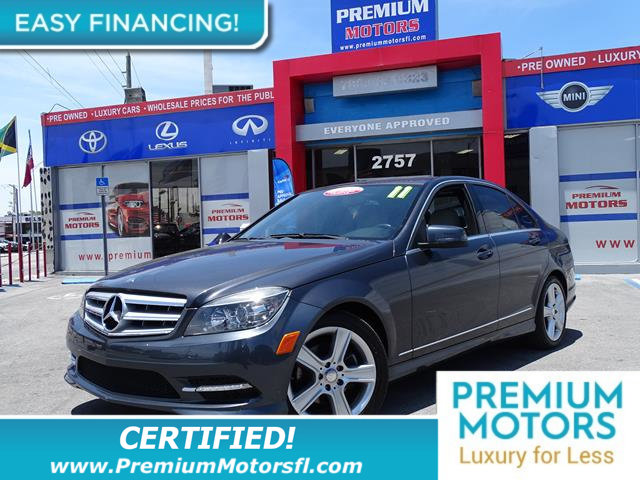 2011 MERCEDES C-CLASS 4DR SEDAN C 300 SPORT RWD LOADED CERTIFIED WE SAVE YOU THOUSANDS Ful
