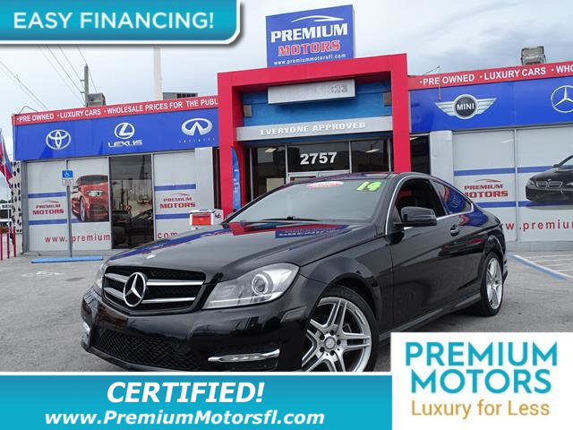 2014 MERCEDES C-CLASS 2DR COUPE C 250 RWD LOADED WITH VALUE Comes equipped with Air Conditioning