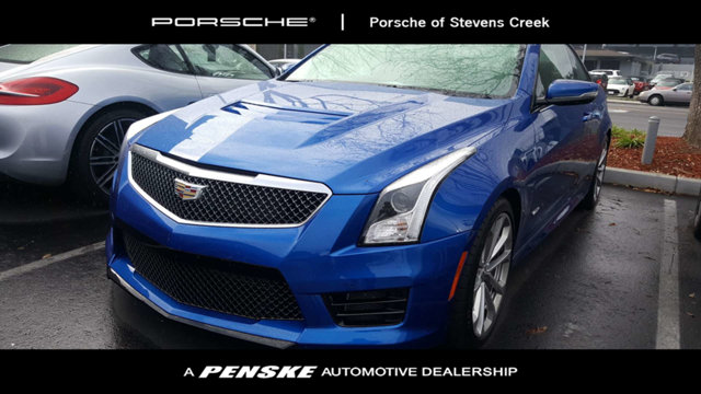 2016 CADILLAC ATS-V COUPE 2DR COUPE CARFAX One-Owner Clean CARFAX Blue 2016 Cadillac ATS-V RWD 3