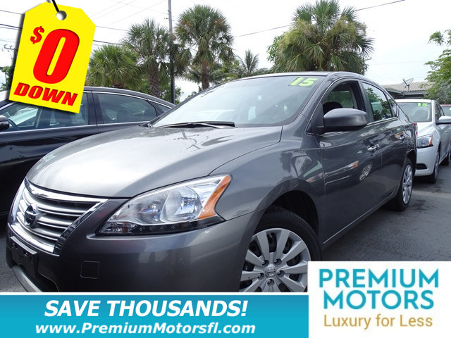 2015 NISSAN SENTRA 4DR SEDAN I4 CVT SV NISSAN FOR LESS FACTORY WARRANTY At Premium Motors