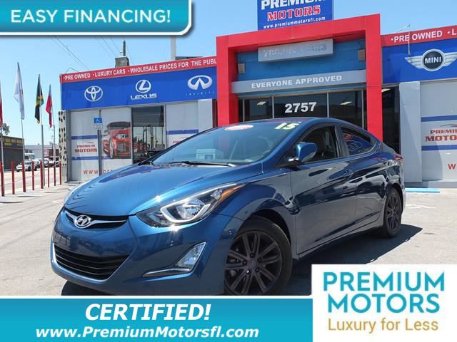 2015 HYUNDAI ELANTRA  LOADED CERTIFIED FACTORY WARRANTY Fully serviced just sign and drive Do