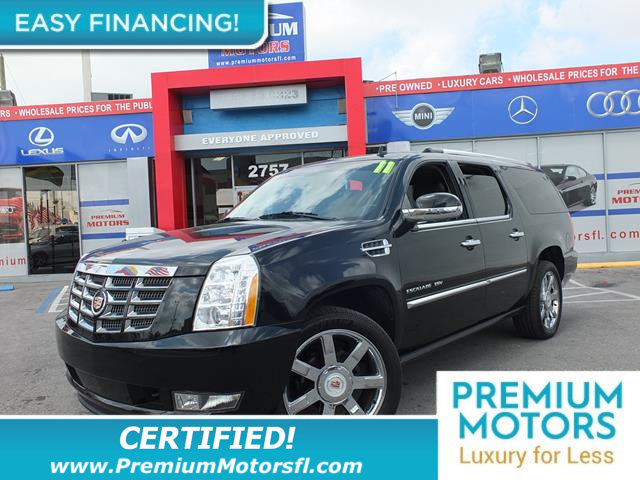 2011 CADILLAC ESCALADE ESV PREMIUM LOADED CERTIFIED WE SAVE YOU THOUSANDS Fully serviced