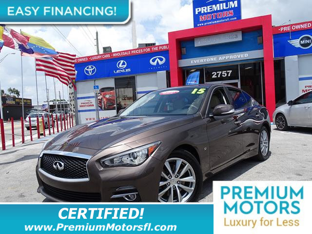 2015 INFINITI Q50 4DR SEDAN RWD LOADED CERTIFIEDFACTORY WARRANTY Fully serviced just sign