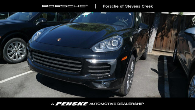 2017 PORSCHE CAYENNE PLATINUM EDITION AWD CARFAX One-Owner Clean CARFAX Certified Black 2017 Po