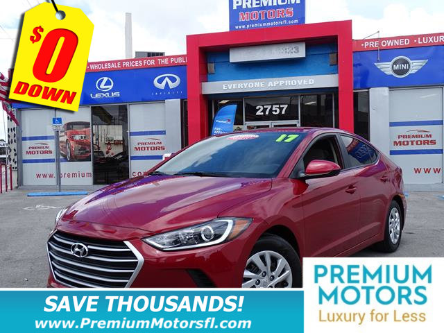 2017 HYUNDAI ELANTRA SE HYUNDAI FOR LESS FACTORY WARRANTY At Premium Motors we have relati
