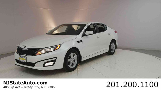 2015 KIA OPTIMA 4DR SEDAN LX CARFAX One-Owner Snow White Pearl 2015 Kia Optima LX FWD 6-Speed Auto