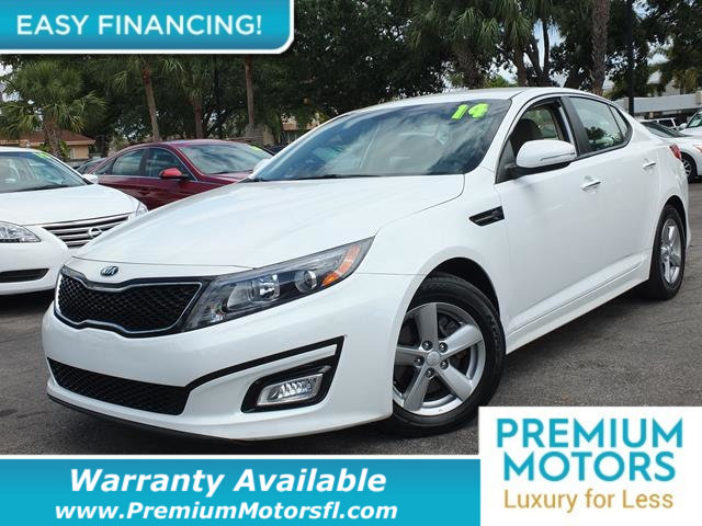 2014 KIA OPTIMA 4DR SEDAN LX LOADED CERTIFIED FACTORY WARRANTY Fully serviced just sign and dr