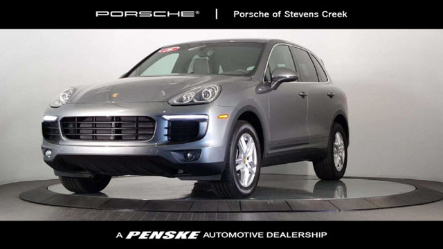 2016 PORSCHE CAYENNE AWD 4DR Porsche Certified HIGHLY DESIRABLE Agate Gray with Partial Leather S