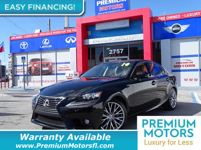 2014 LEXUS IS 250 4DR SPORT SEDAN AUTOMATIC RWD LOADED CERTIFIED WE SAVE YOU THOUSANDS Fully se